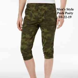 AMERICAN RAG GREEN CAMO MEN'S JOGGING PANTS XL